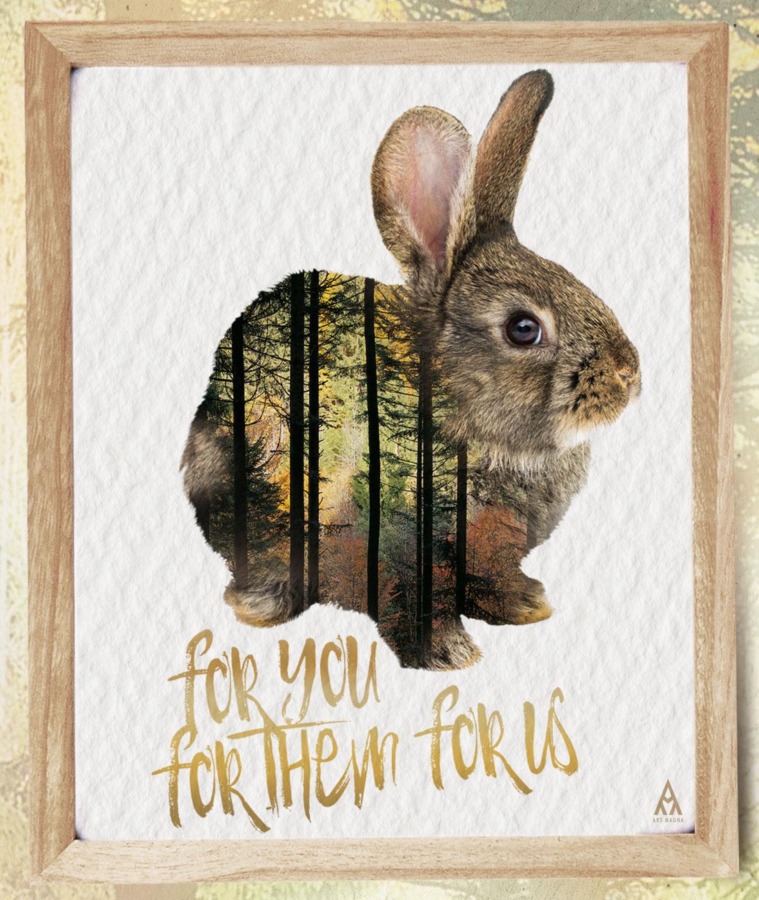 Ars Magna Design- For you for them for us- Kunstdruck Motiv Save the Littles