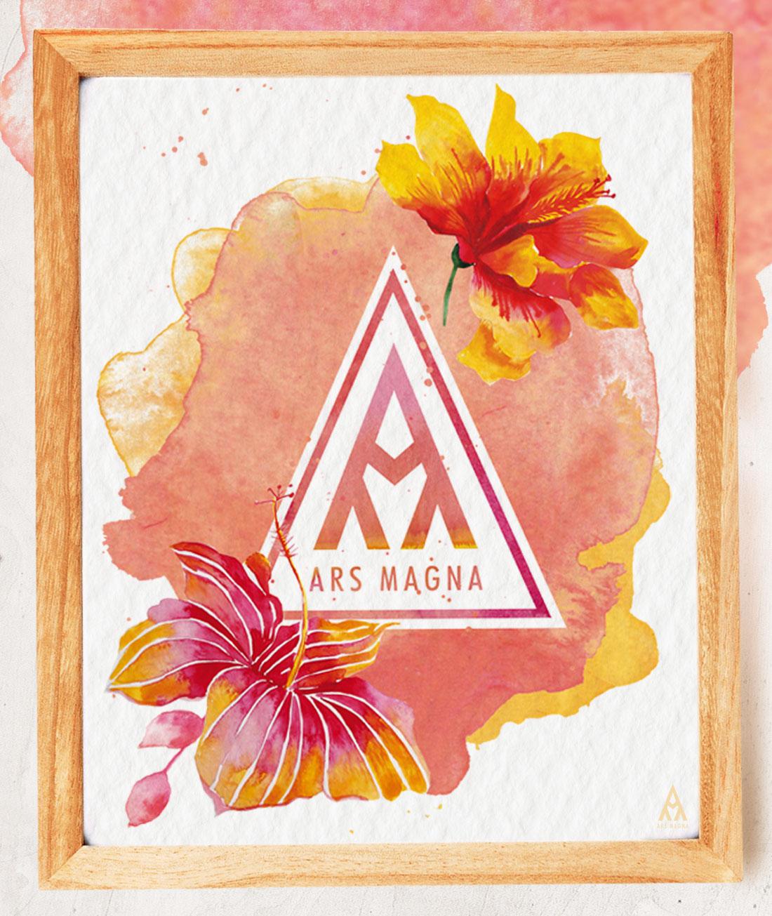 Ars Magna Design Watercolor Kunstdruck Motiv Flamingo Prime