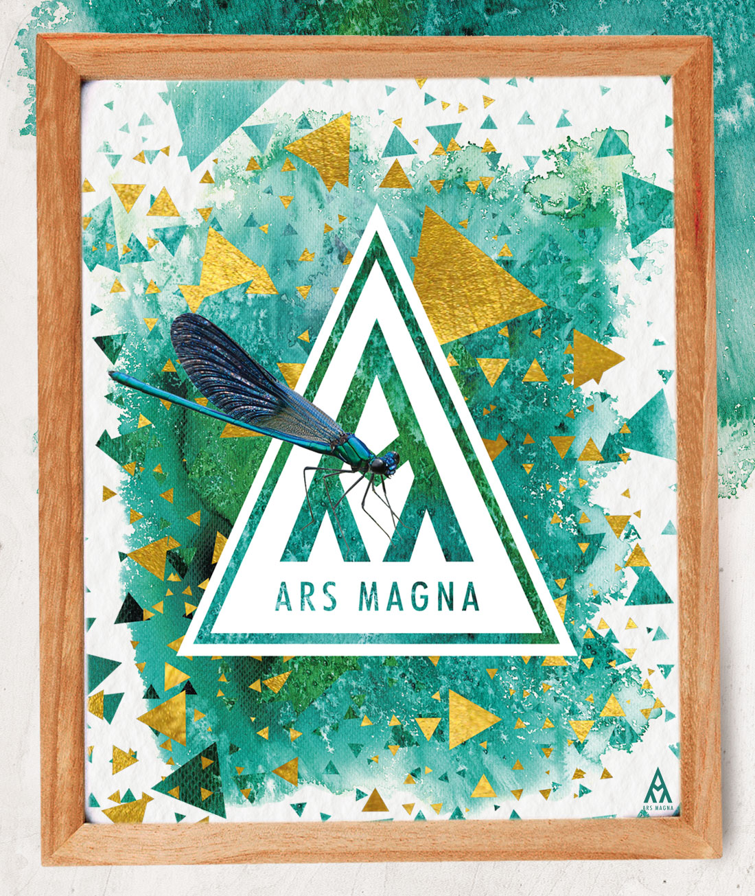 Ars Magna Design Watercolor Kunstdruck Motiv Emerald Prism