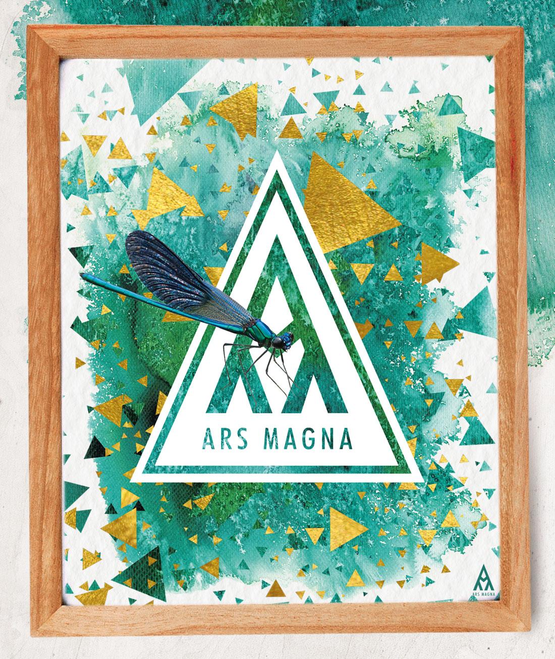 Ars Magna Design Watercolor Kunstdruck Motiv Emerald Prism