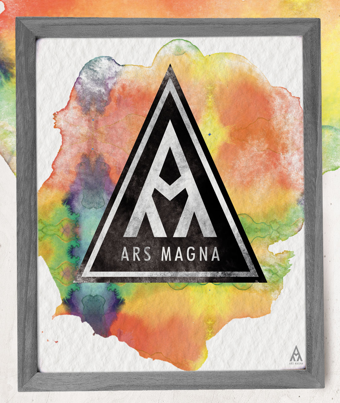 Ars Magna Design Watercolor Brainbow Reign Motiv Kunstdruck