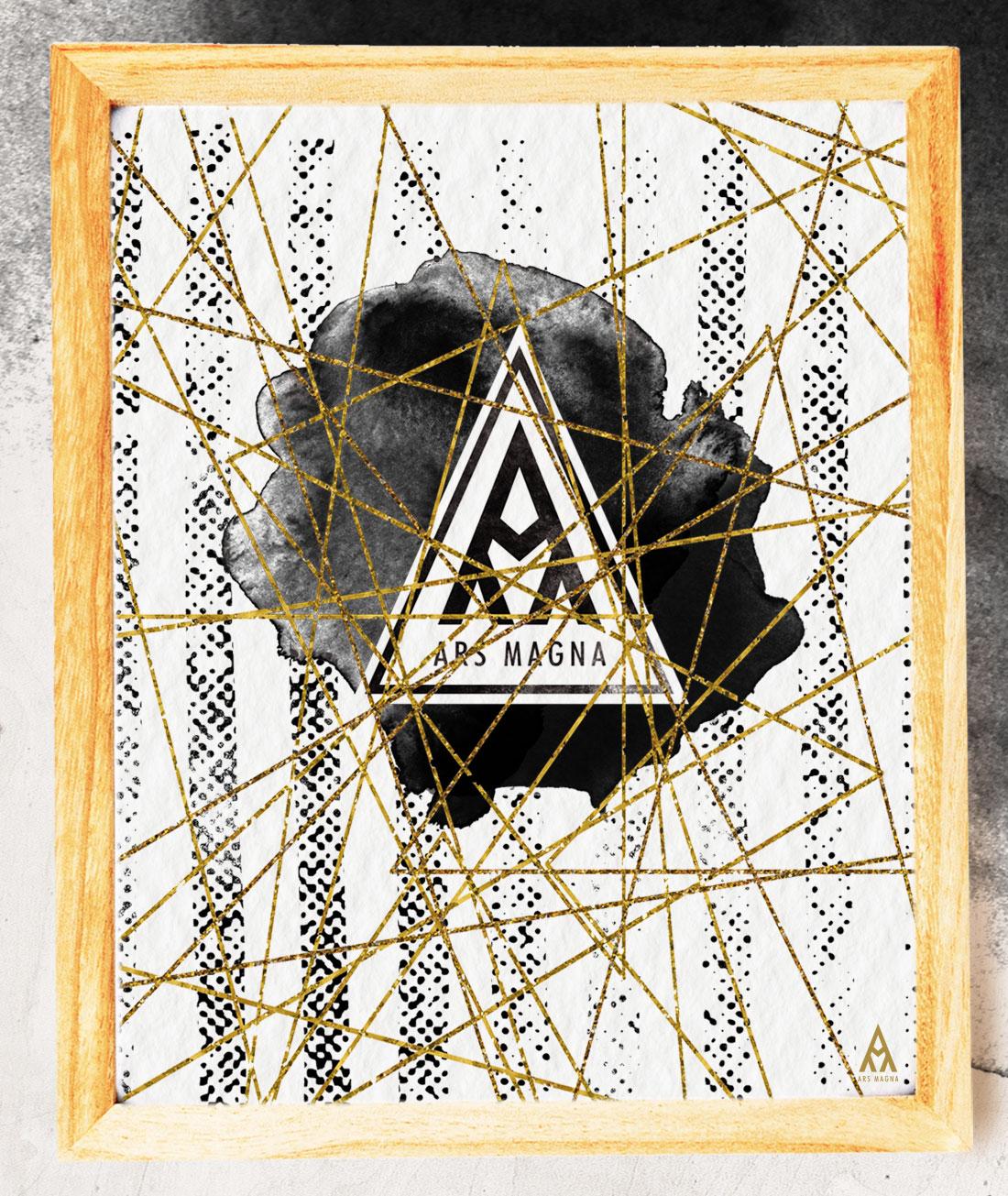 Ars Magna Design Watercolor Kunstdruck Motiv ShadesOfGold